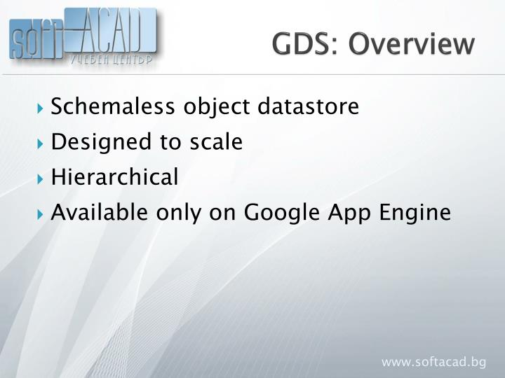 GDS: Overview