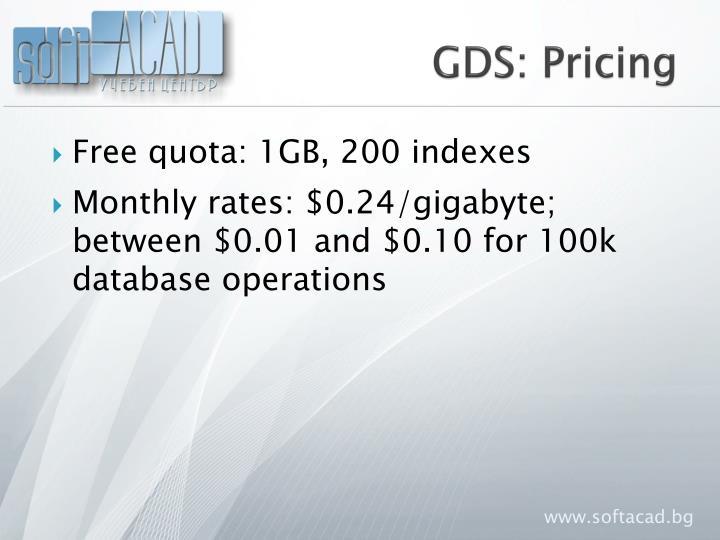 GDS: Pricing