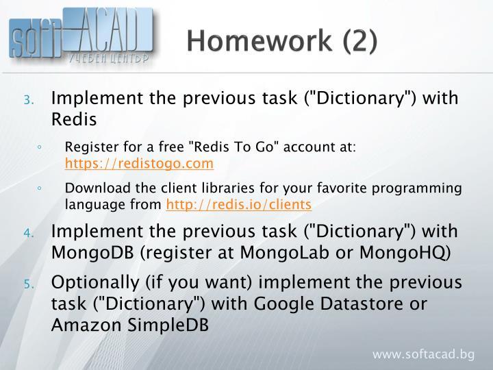 Homework (2)