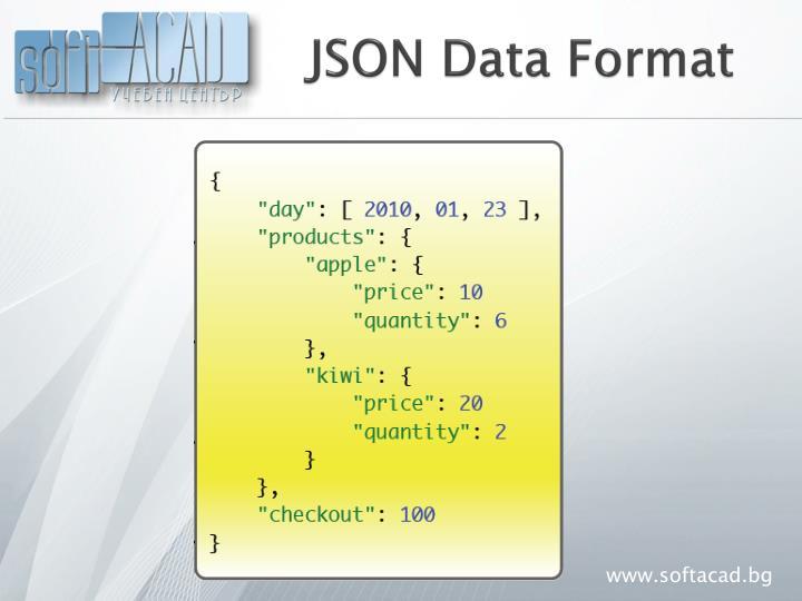 JSON Data Format