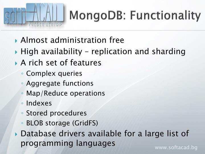 MongoDB: Functionality