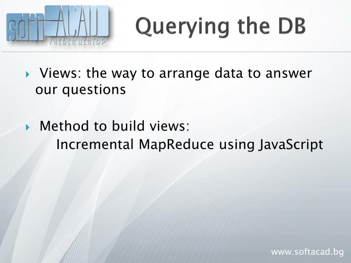 Querying the DB