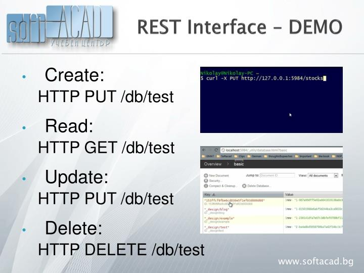 REST Interface – DEMO