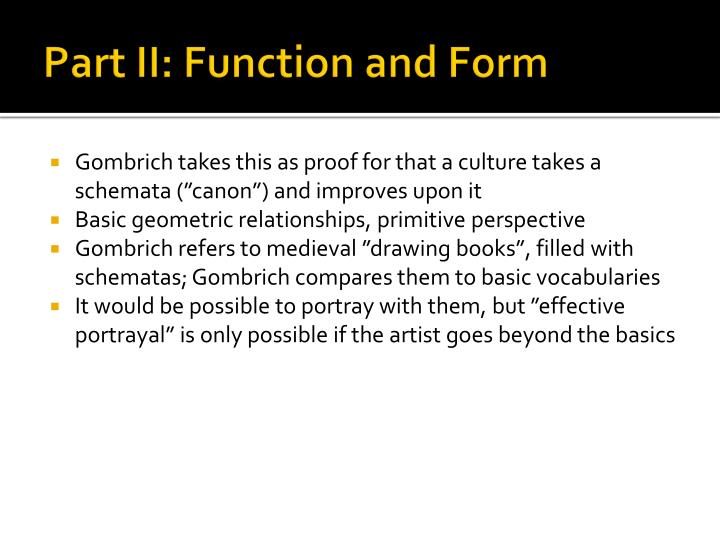 Part II: Function and Form