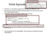 finite equivalence proofs
