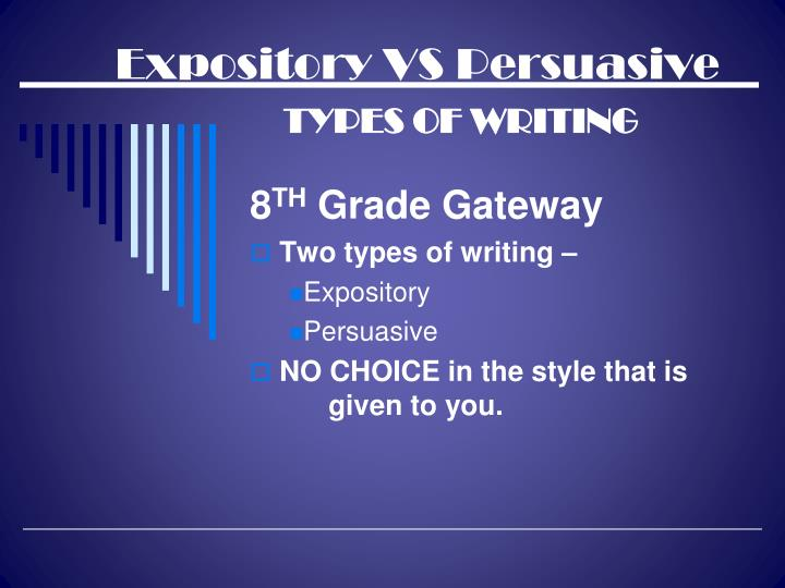 expository essay powerpoint presentation