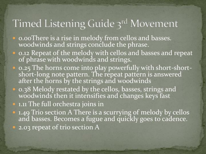 Timed Listening Guide 3