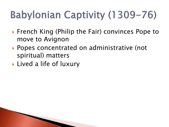 Babylonian captivity 1309 76