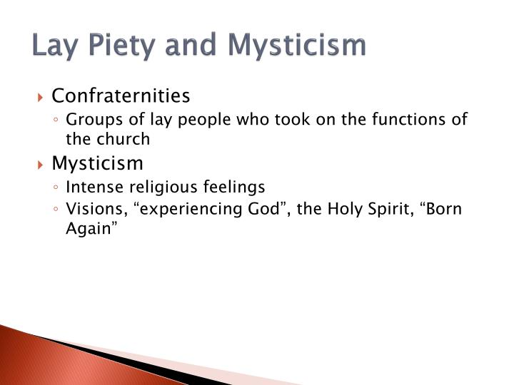Lay Piety and Mysticism
