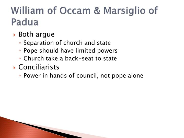 William of Occam &