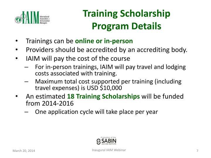 Training Scholarship