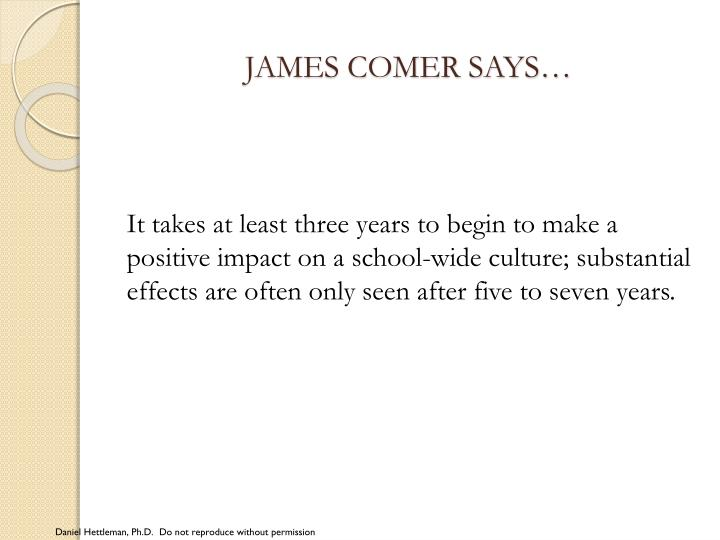 JAMES COMER SAYS…