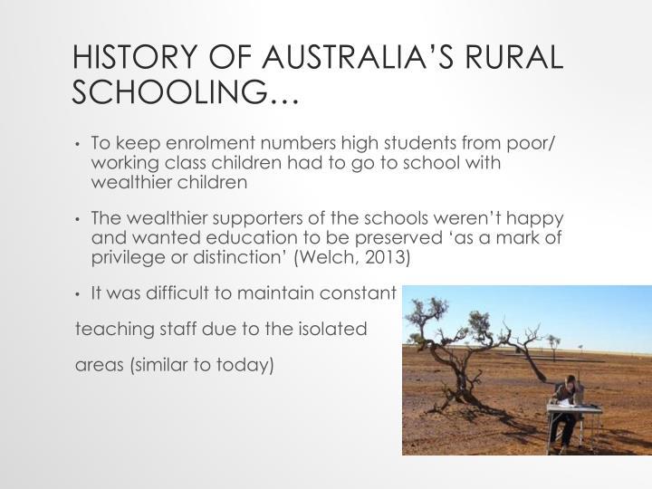 History of Australia's Rural Schooling…