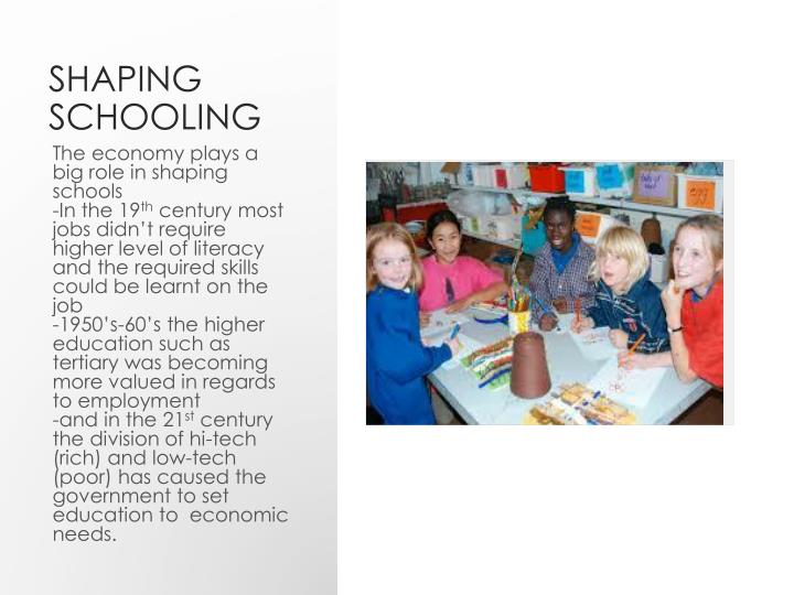 Shaping Schooling