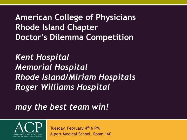 American College of Physicians Rhode Island