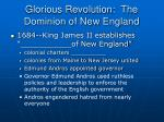 glorious revolution the dominion of new england