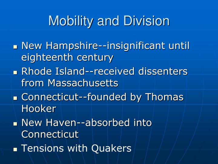 Mobility and Division