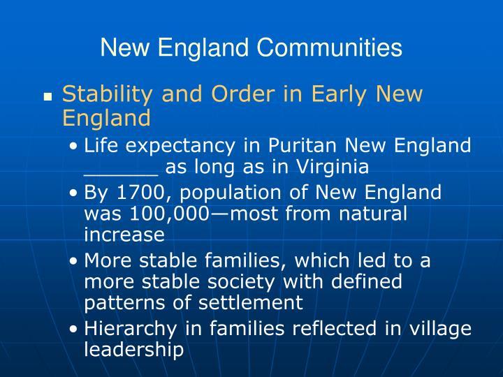 New England Communities