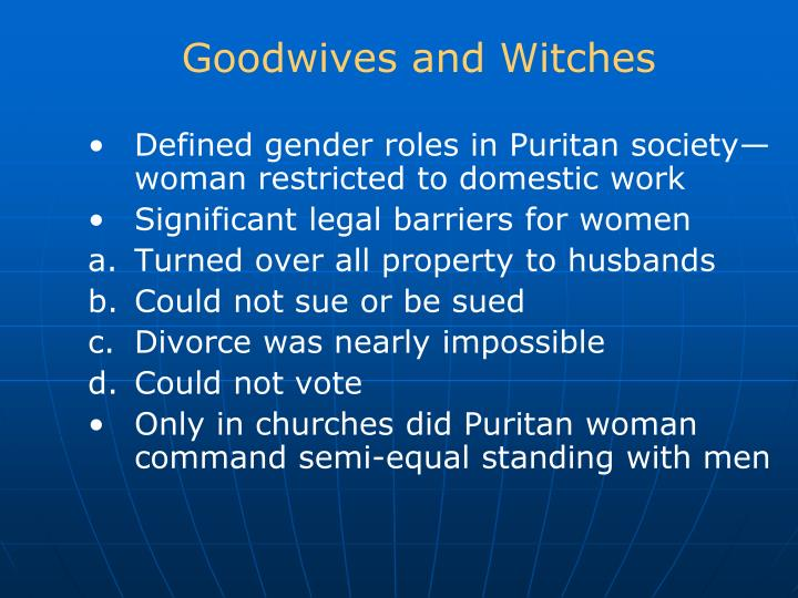 Goodwives and Witches