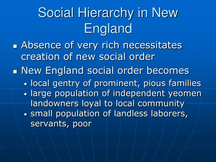 Social Hierarchy in New England
