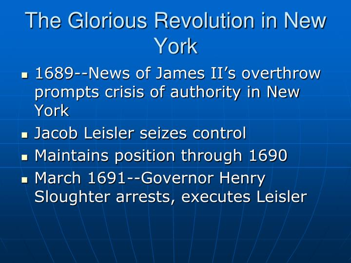 The Glorious Revolution in New York