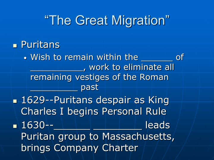 """""""The Great Migration"""""""