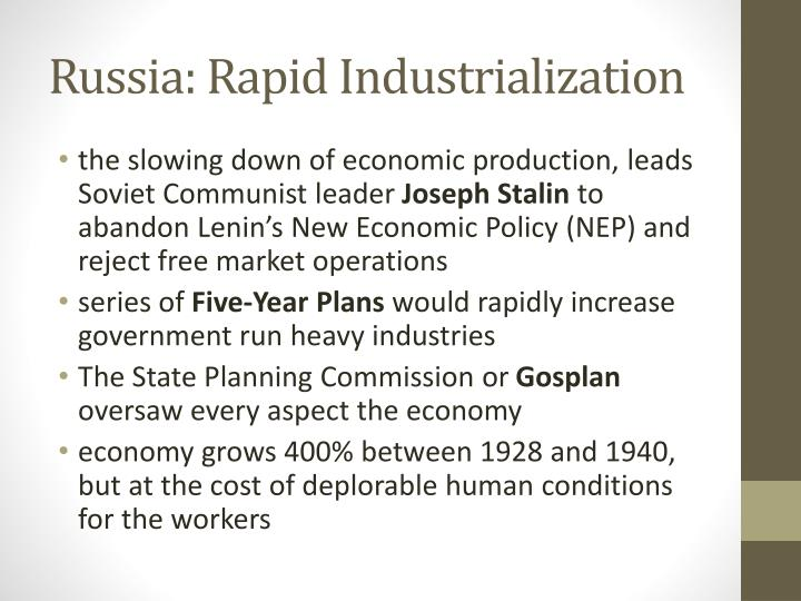 the cost of rapid industrialization essay