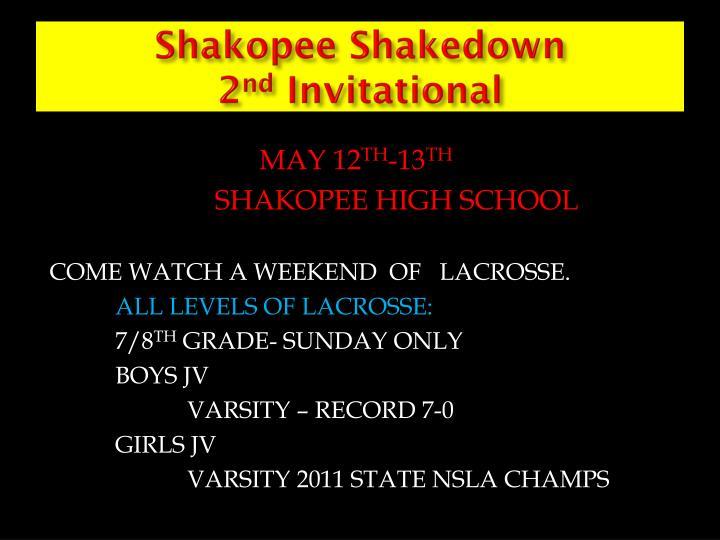 Shakopee Shakedown