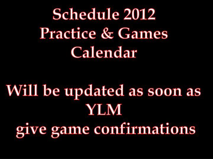 Schedule 2012