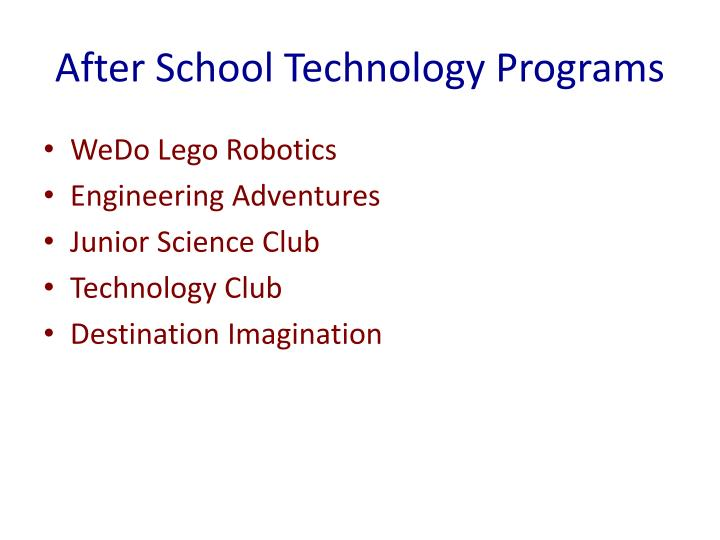 After School Technology Programs