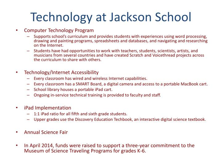 Technology at Jackson School