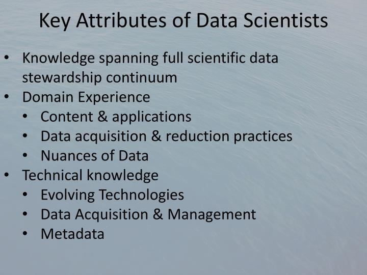 Key Attributes of Data Scientists