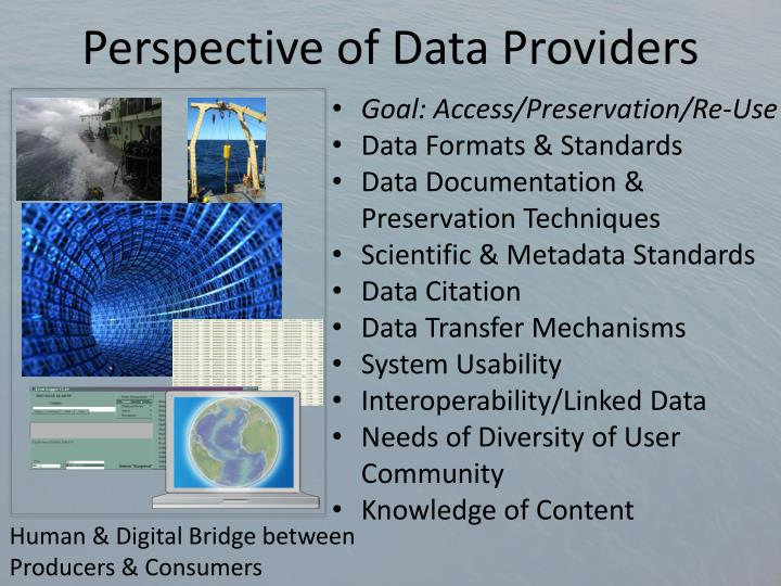 Perspective of Data Providers