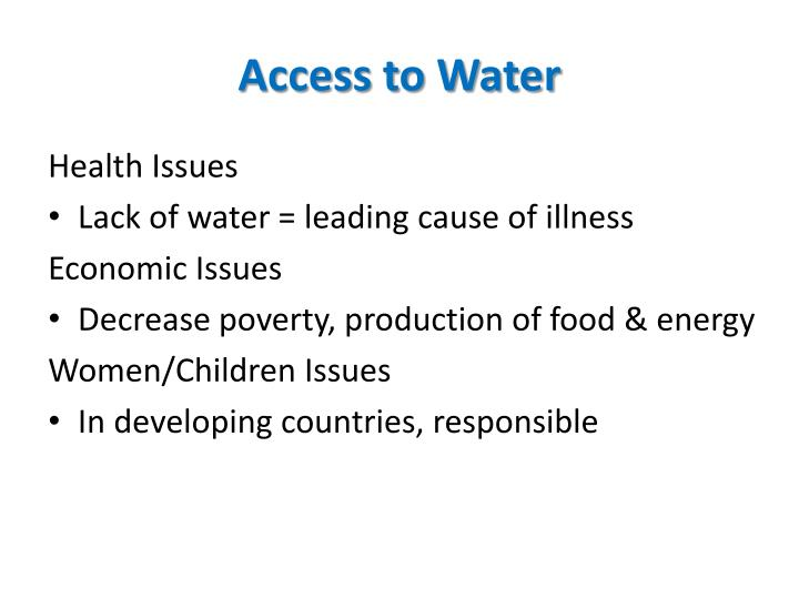 Access to Water