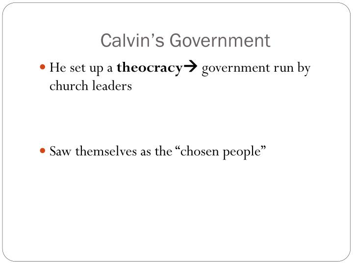 Calvin's Government
