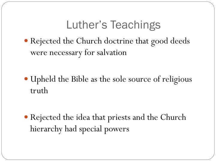 Luther's Teachings