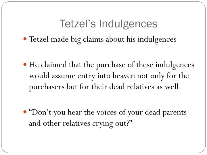 Tetzel's Indulgences