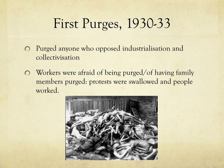 First Purges, 1930-33