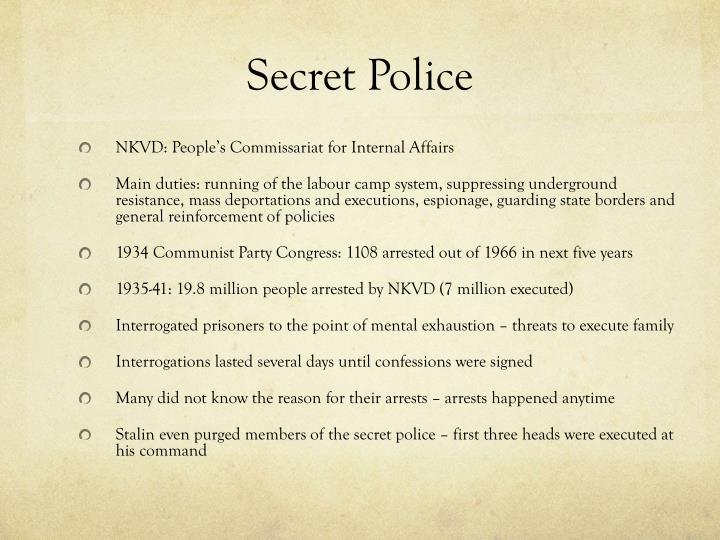 Secret Police