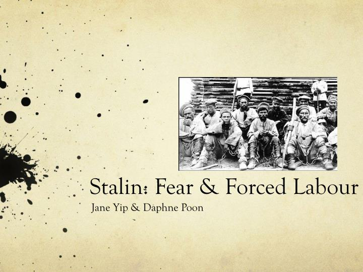 Stalin fear forced labour