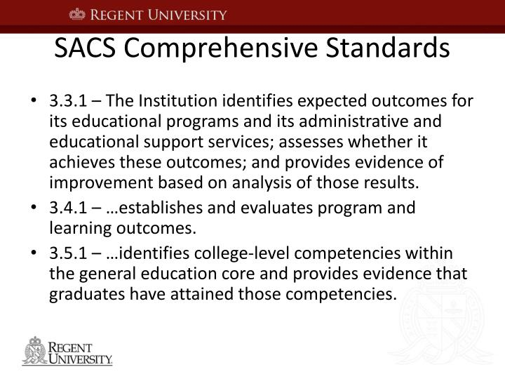 SACS Comprehensive Standards