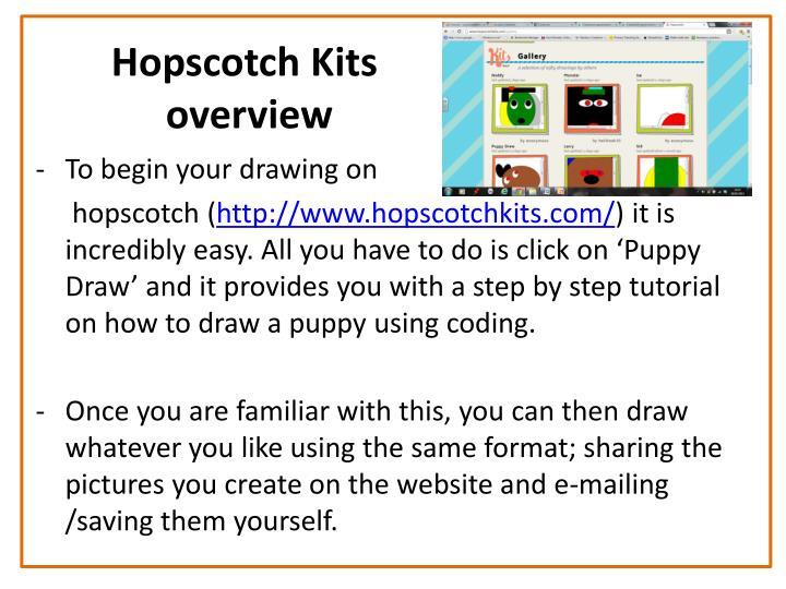 Hopscotch kits overview