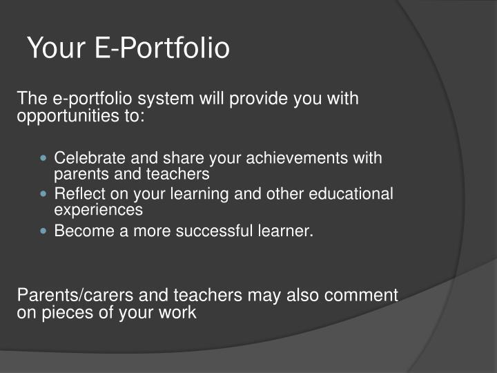 Your E-Portfolio