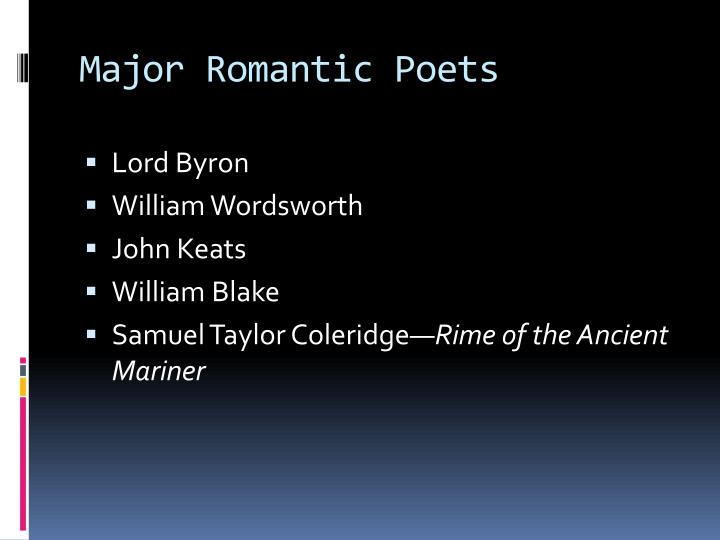 romantic poetry rime of the ancient