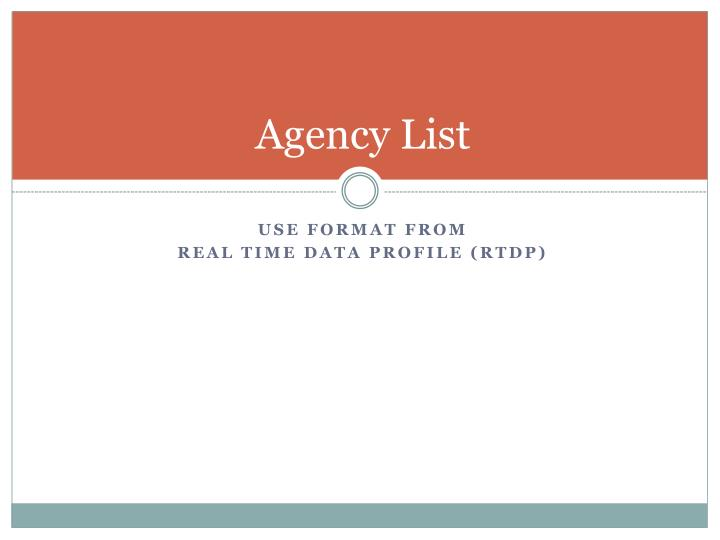 Agency List