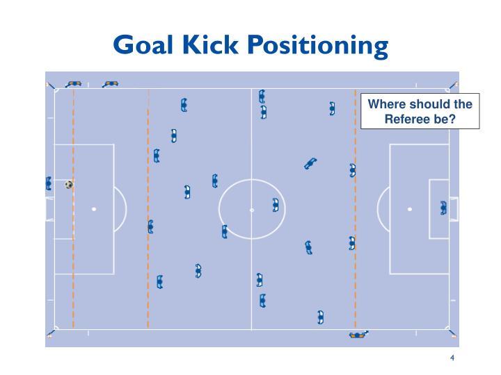 Goal Kick Positioning