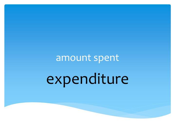 amount spent