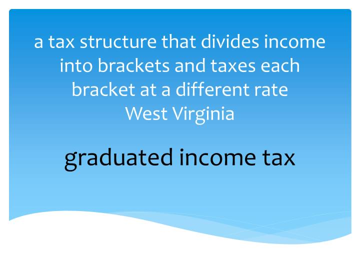a tax structure that divides income into brackets and taxes each bracket at a different rate