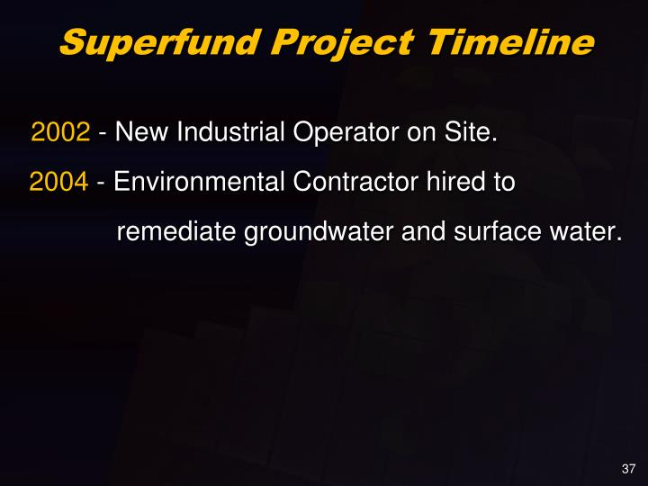 Superfund Project Timeline