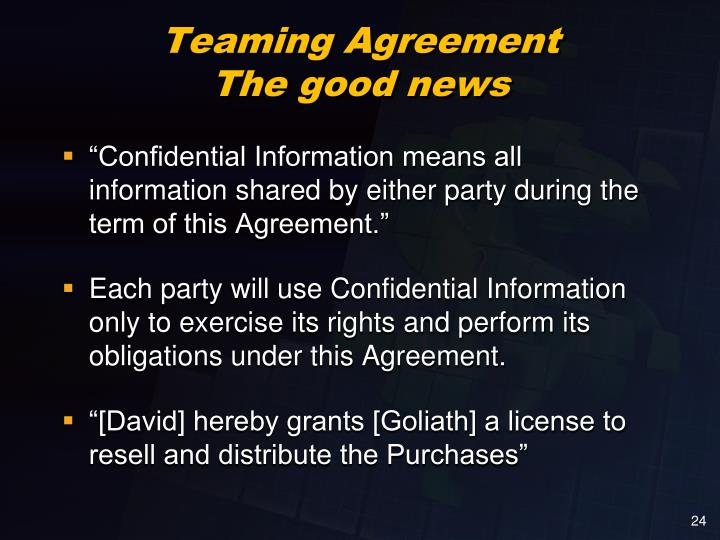 Teaming Agreement